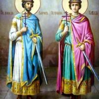 Святые благоверные князья-страстотерпцы Борис и Глеб
